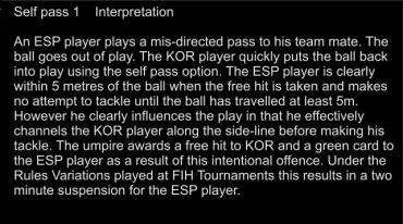 I Self pass - Interp