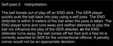 Self pass 5 Interpretation