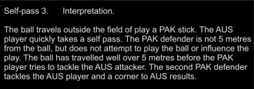 3 Self pass Interp - Should be about obstruction