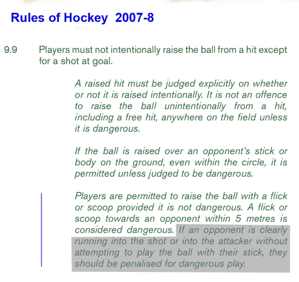 rules of hockey Basic field hockey rules 1 you may only use the flat side of your stick 2 you must be properly attired – shin guards, mouth guards, no jewelry, etc.